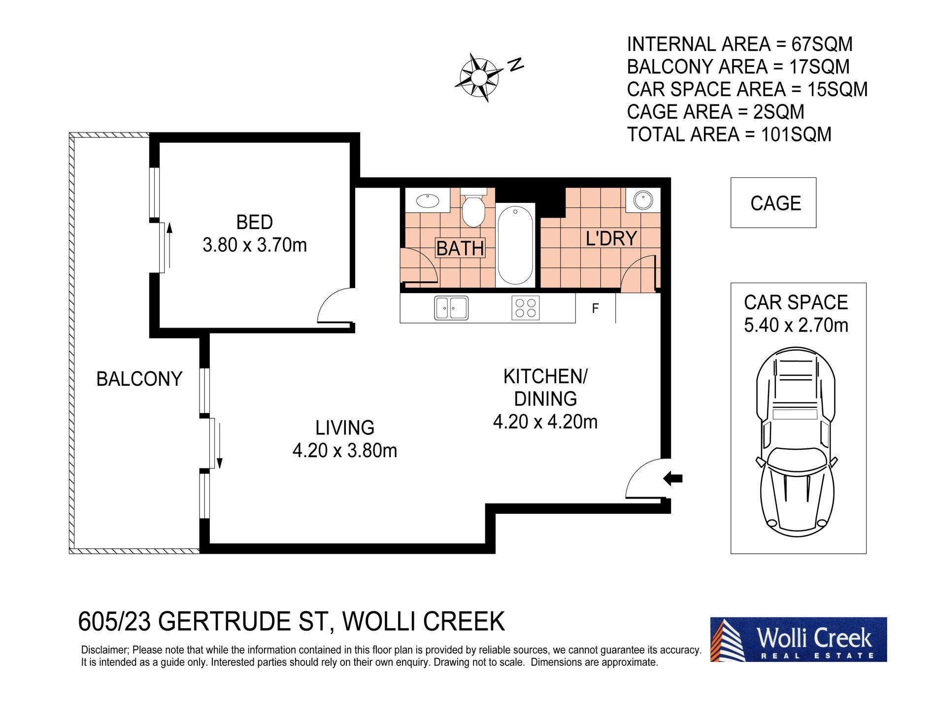 605 / 23 Gertrude Street, Wolli Creek