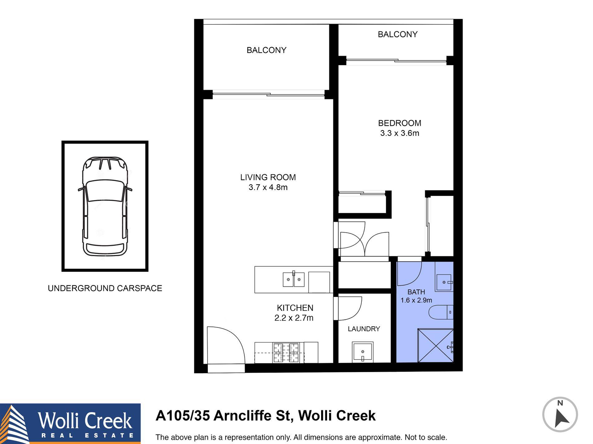 A105 / 35 Arncliffe Street , Wolli Creek