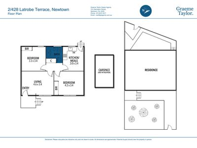 2 / 428 Latrobe Terrace, Newtown