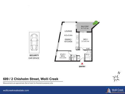 609 / 2 Chisholm Street, Wolli Creek