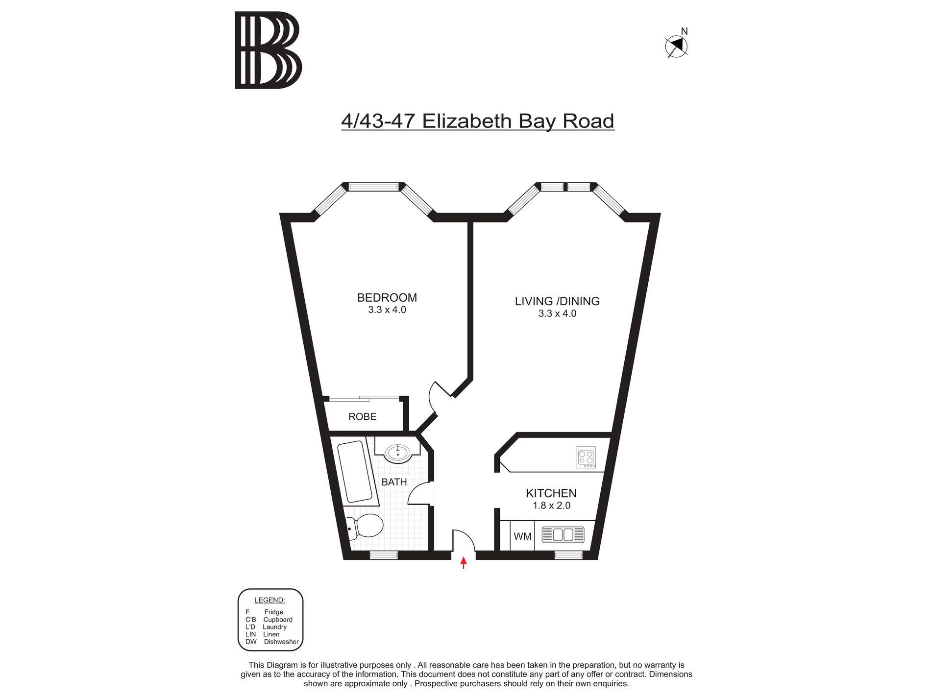 4 / 43-47 Elizabeth Bay Road, Elizabeth Bay