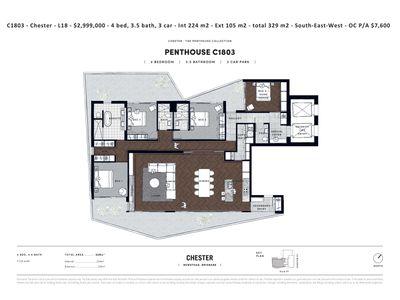 C1803 Penthouse / 7 Chester Street, Newstead