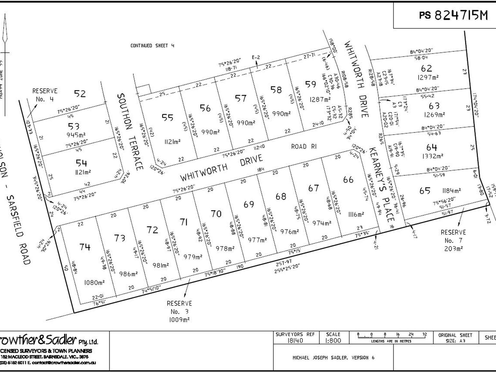 Lot 59 Whitworth Drive, Nicholson