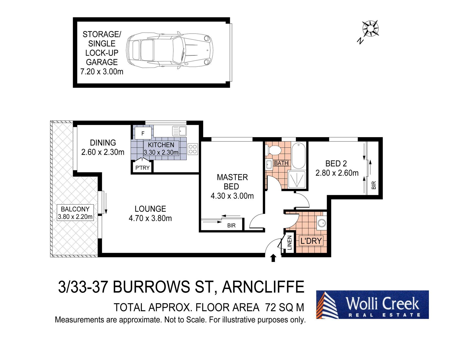 3 / 33 Burrows Street, Arncliffe