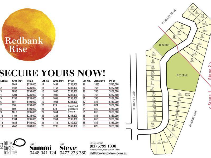 Lot 1 Redbank Rise, Seymour