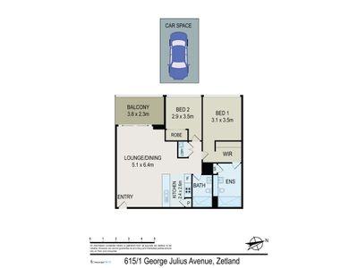 615 / 1  George Julius Avenue, Zetland