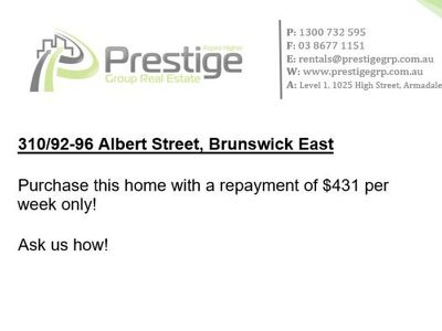 310 / 92-96 Albert Street, Brunswick East