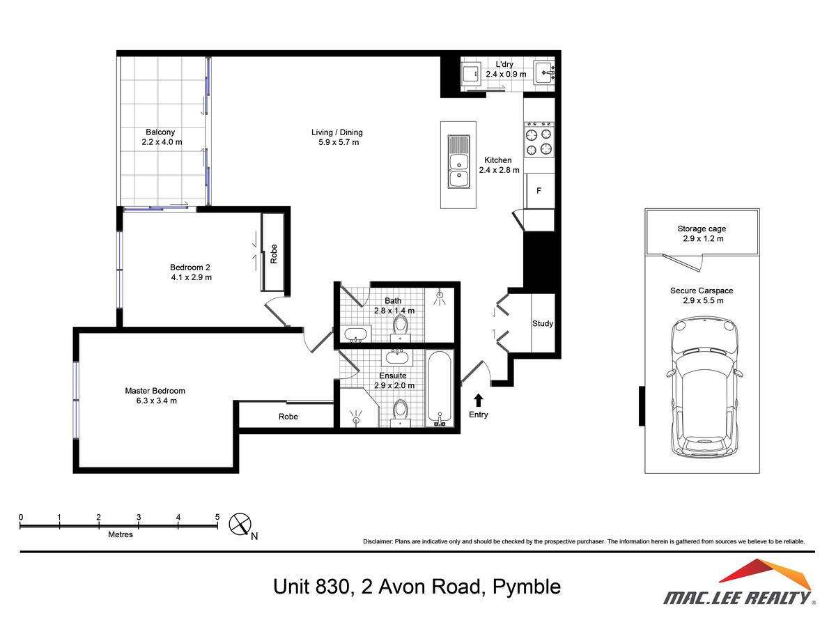 830 / 2 Avon Road, Pymble