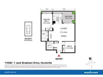 1103B / 1 Jack Brabham Drive, Hurstville
