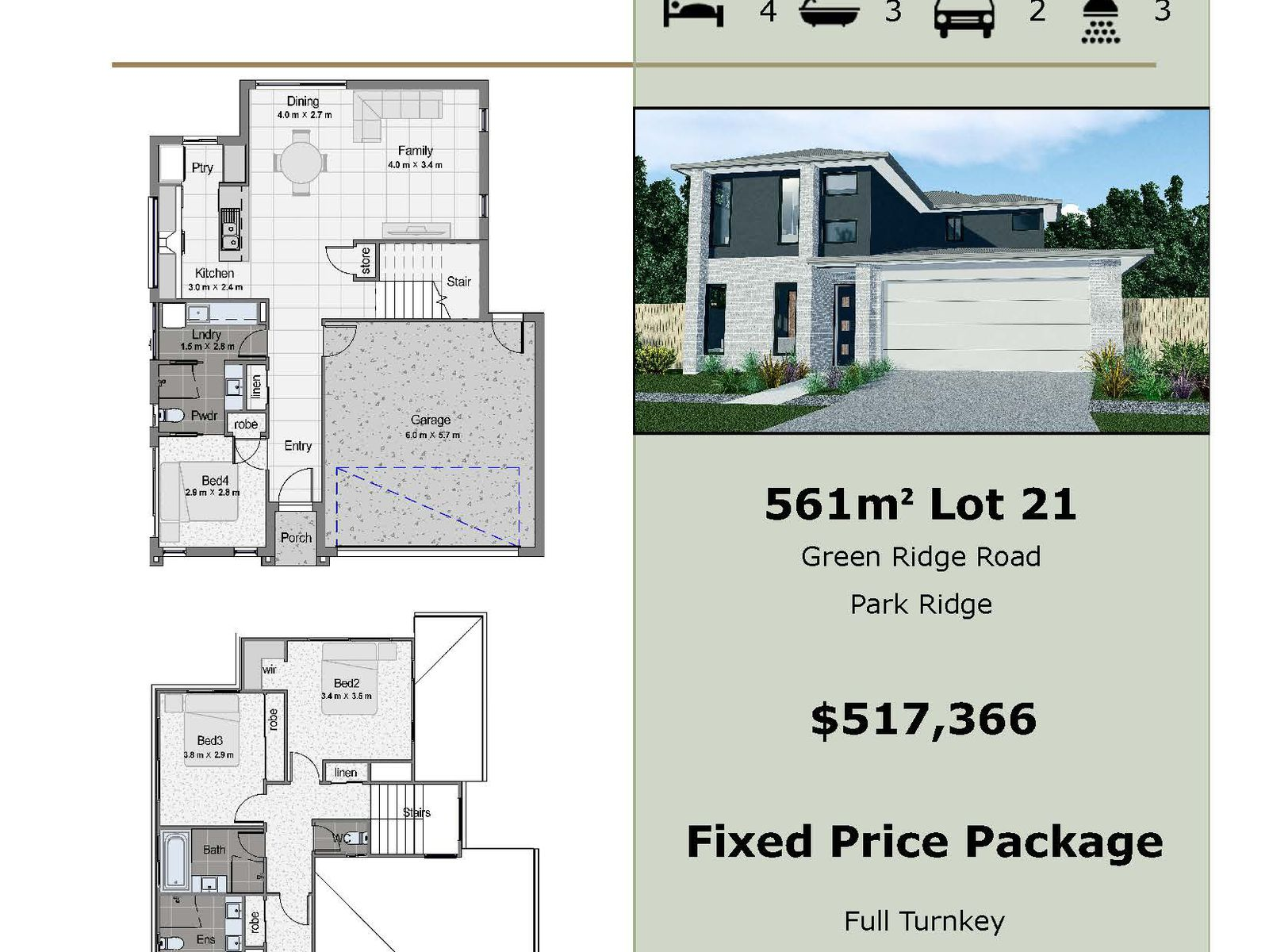 Lot 21 Greenridge Road , Park Ridge