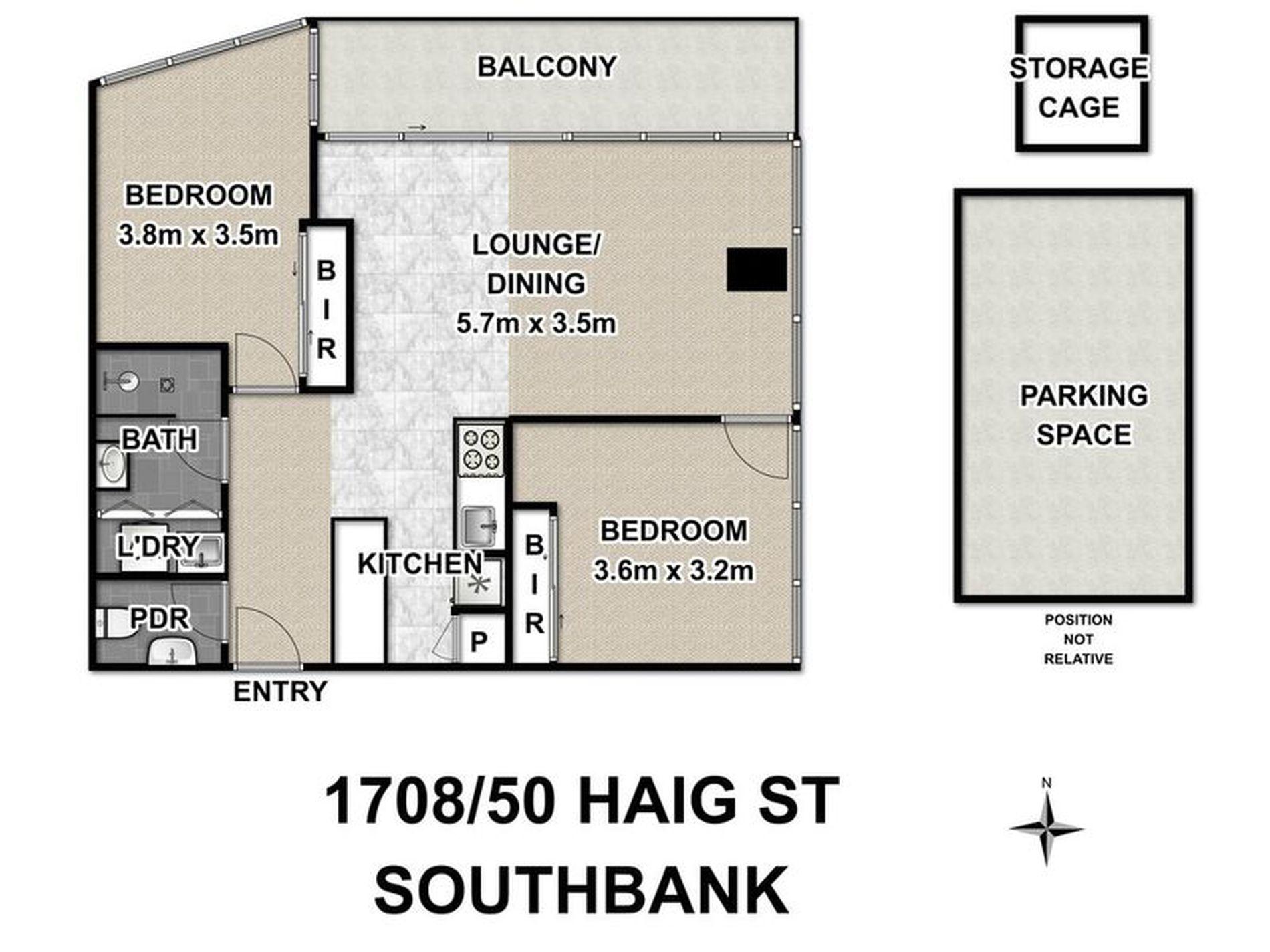 1708 / 50 Haig Street, Southbank